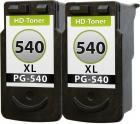 Set 2x Alternativ Canon Druckerpatronen PG-540 Schwarz