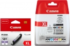 6x Original Canon Patronen im Set PGI-580 + CLI-581 XL