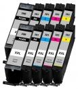 10x Alternativ Canon Patronen im Set PGI-580 XXL + CLI-581 XXL