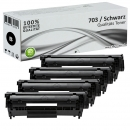 Set 4x Alternativ Canon Toner 703 Schwarz
