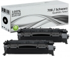 Set 2x Alternativ Canon Toner 708 Schwarz