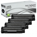 Set 4x Alternativ Canon Toner 712 Schwarz