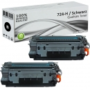 2er Set Alternativ Canon Toner 724-H Schwarz