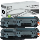 4er Set Alternativ Canon Toner 724-H Schwarz