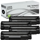 4x Alternativ Canon Toner 728 Schwarz Set