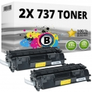 2x Alternativ Canon Toner 737 9435B002 Schwarz