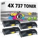 4x Alternativ Canon Toner 737 9435B002 Schwarz