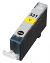 Alternativ Tintenpatrone CLI-521Y mit Chip fuer Canon