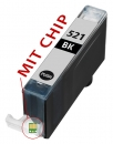 Alternativ Tintenpatronen CLI-521BK mit Chip fuer Canon