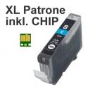 Alternativ Tintenpatrone CLI-8C mit Chip fuer Canon