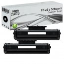 2x Alternativ Canon Toner EP-22 Schwarz Set