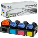 Alternativ Canon Toner C EXV 21 Set Mehrfarbig