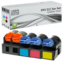 Alternativ Canon Toner C EXV 21 Mehrfarbig Set