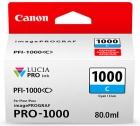 Original Canon Patronen PFI-1000C Cyan