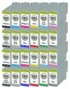 24x Alternativ Druckerpatronen Canon PFI-101 Set Mehrfarbig