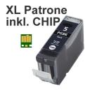 Alternativ Tintenpatrone PGI-5BK mit Chip fuer Canon