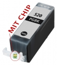 Alternativ Tintenpatrone PGI-520BK mit Chip fuer Canon