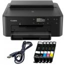 Canon PIXMA TS 705 Tintenstrahldrucker inkl. 5 XL Patronen