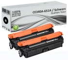 2x Alternativ HP Toner 651A CE340A Schwarz