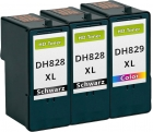 Alternativ Patronen Dell CH884/DH829 Farbe + 2x CH883/DH828
