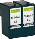 Set 2x Alternativ Patronen Dell M4640/J5566 Schwarz