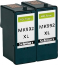 Set 2x Alternativ Patronen Dell MK990/MK992 Schwarz