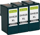 Set 3x Alternativ Patronen Dell CH883/DH828 Schwarz