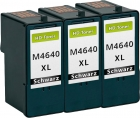Set 3x Alternativ Patronen Dell M4640/J5566 Schwarz