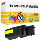 Alternativ Dell Toner 593-BBLV MWR7R Gelb