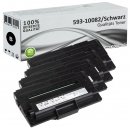 Set 4x Alternativ Dell Toner P4210 593-10082 Schwarz