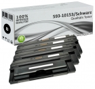 Set 4x Alternativ Dell Toner RF223 593-10153 Schwarz