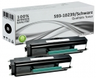 Set 2x Alternativ Dell Toner RP380 593-10239 Schwarz
