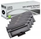 Set 4x Alternativ Dell Toner HX756 593-10329 Schwarz