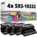 Set 4x Alternativ Toner Dell NY312 593-10332 Schwarz