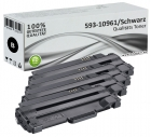 Set 4x Alternativ Dell Toner 2MMJP 593-10961 Schwarz