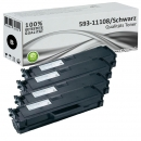 Set 4x Alternativ Dell Toner HF44N 593-11108 Schwarz
