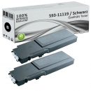 Set 2x Alternativ Dell Toner C3760K Schwarz