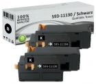 Alternativ Dell Toner 593-11130 Schwarz Doppelpack