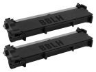 2x Alternativ Dell Toner 593-BBLH / PVTHG Schwarz