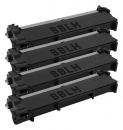 4x Alternativ Dell Toner 593-BBLH / PVTHG Schwarz