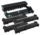 Alternativ Set Dell 4x Toner PVTHG + Trommel WRX5T
