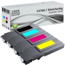 Set 4x Alternativ Dell Toner C3760 BK C M Y Mehrfarbig