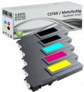 Set 5x Alternativ Dell Toner C3760 K C M Y Mehrfarbig