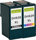 Alternativ Patronen Dell CH884/DH829 Farbe + CH883/DH828  Black