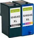 Alternativ Patronen Dell M4640/J5566 Schwarz + M4646/J5567 Color