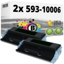 Alternativ Dell Toner Set 2x 7Y606 593-10006 Schwarz