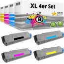 Set 4 Alternativ OKI Toner 44318620 44318619 44318618 44318617