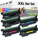 Alternativ HP Set 5x Toner 654X / CF330X CF331A CF332A CF333A