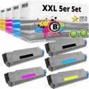 Set 5 Alternativ OKI Toner 44318620 44318619 44318618 44318617