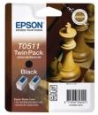 Original Epson Patronen T0511 C13T05114210 Schwarz Multipack
